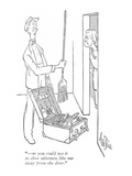 """—or you could use it to shoo salesmen like me away from the door."" - New Yorker Cartoon Premium Giclee Print by George Price"