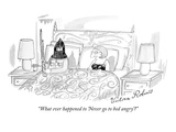 """What ever happened to 'Never go to bed angry'"" - New Yorker Cartoon Giclee Print by Victoria Roberts"