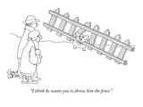 """I think he wants you to throw him the fence."" - New Yorker Cartoon Premium Giclee Print by Gahan Wilson"