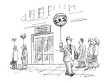 A businessman leaves an Internal Revenue Service building with a balloon r… - New Yorker Cartoon Premium Giclee Print by Mike Twohy