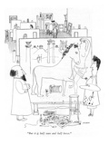 """But it is half man and half horse."" - New Yorker Cartoon Premium Giclee Print by Saul Steinberg"