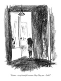 """You are a very beautiful woman. May I buy you a Coke"" - New Yorker Cartoon Premium Giclee Print by Robert Weber"