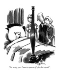 """Get me my gun.  I want to squeeze off a few last rounds."" - New Yorker Cartoon Premium Giclee Print by Eldon Dedini"