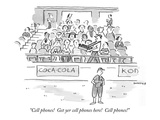 &quot;Cell phones!  Get yer cell phones here!  Cell phones!&quot; - New Yorker Cartoon Premium Giclee Print by Liza Donnelly