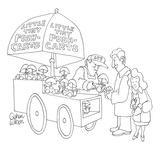 Push-cart vendor selling tiny little push carts. - New Yorker Cartoon Premium Giclee Print by Gahan Wilson