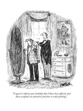 """I regret to inform your lordship that I have been offered, and have accep…"" - New Yorker Cartoon Premium Giclee Print by Robert Weber"