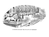A Revised Statuary for the City of Tomorrow - New Yorker Cartoon Premium Giclee Print by Richard Taylor