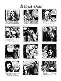 Blind Date - New Yorker Cartoon Premium Giclee Print by Huguette Martel