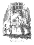 """I got an A for not smoking."" - New Yorker Cartoon Premium Giclee Print by Robert Weber"