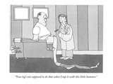 """Your leg's not supposed to do that when I tap it with this little hammer."" - New Yorker Cartoon Premium Giclee Print by Gahan Wilson"