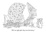 """Hit 'em right after they won the lottery."" - New Yorker Cartoon Premium Giclee Print by Gahan Wilson"