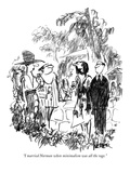 """I married Norman when minimalism was all the rage."" - New Yorker Cartoon Premium Giclee Print by Robert Weber"