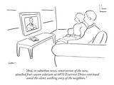 """And, in suburban news, construction of the new, attached four-season sola…"" - New Yorker Cartoon Premium Giclee Print by Michael Shaw"