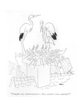 """Imagine my embarrassment—they weren't even married!"" - New Yorker Cartoon Premium Giclee Print by Unknown Alain"