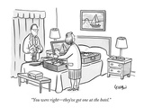 """You were right—they've got one at the hotel."" - New Yorker Cartoon Premium Giclee Print by Robert Leighton"