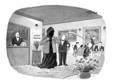 "Death borrowing a jacket to meet a restaurant's dress code. ""Jacket Required."" - New Yorker Cartoon Premium Giclee Print by Harry Bliss"