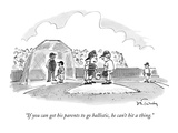 """If you can get his parents to go ballistic, he can't hit a thing."" - New Yorker Cartoon Premium Giclee Print by Mike Twohy"