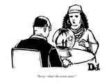 """Sorry—that's the screen saver."" - New Yorker Cartoon Premium Giclee Print by Drew Dernavich"