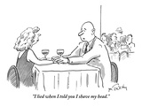 """I lied when I told you I shave my head."" - New Yorker Cartoon Premium Giclee Print by Mike Twohy"