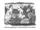 """Looks like we grafted a few too many human genes into the kohlrabi."" - New Yorker Cartoon Premium Giclee Print by Gahan Wilson"