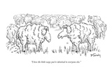"""I love the little ways you're identical to everyone else."" - New Yorker Cartoon Premium Giclee Print by Mike Twohy"