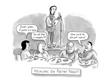 "An audience heckles a poet who is reading his work on stage: they say ""Gre… - New Yorker Cartoon Premium Giclee Print by Bob Eckstein"