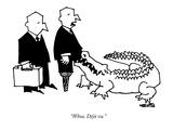 """Whoa. Déjà vu.""  - New Yorker Cartoon Premium Giclee Print by Ariel Molvig"