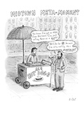 "A man selling hotdogs says, ""You know, I've got an MBA from Harvard!  I'm … - New Yorker Cartoon Premium Giclee Print by Roz Chast"