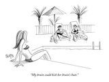 """My brain could kick her brain's butt."" - New Yorker Cartoon Premium Giclee Print by Julia Suits"