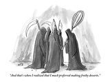 """And that's when I realized that I much preferred making frothy desserts."" - New Yorker Cartoon Giclee Print by Julia Suits"