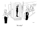"""It's a boy!"" - New Yorker Cartoon Premium Giclee Print by Michael Shaw"