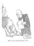 """How was your lonely little dinner, sir"" - New Yorker Cartoon Premium Giclee Print by Gahan Wilson"