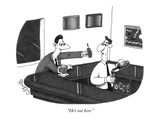 """He's not here."" - New Yorker Cartoon Premium Giclee Print by J.C. Duffy"