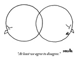 """At least we agree to disagree."" - New Yorker Cartoon Premium Giclee Print by Ariel Molvig"