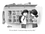 """It's over, Rachel—I want your things out of my cubby."" - New Yorker Cartoon Premium Giclee Print by Harry Bliss"