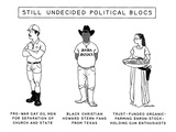 """Still Undecided Political Blocs"" - New Yorker Cartoon Premium Giclee Print by Alex Gregory"