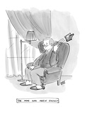 """The Man Who Knew Enough"" - New Yorker Cartoon Premium Giclee Print by Carolita Johnson"