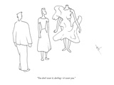 """You don't wear it, darling—it wears you."" - New Yorker Cartoon Premium Giclee Print by Erik Hilgerdt"