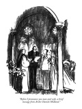 """Before I pronounce you man and wife, a brief message from Archer Daniels …"" - New Yorker Cartoon Premium Giclee Print by Robert Weber"