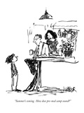 """Summer's coming.  How does pre-med camp sound"" - New Yorker Cartoon Premium Giclee Print by Robert Weber"