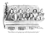 """Your Honor, we're going to go with the prosecution's spin."" - New Yorker Cartoon Premium Giclee Print by Mike Twohy"
