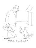 """Will there be anything else"" - New Yorker Cartoon Premium Giclee Print by Ed Arno"