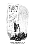 """Finally, let me put to rest the so-called 'character' issue."" - New Yorker Cartoon Premium Giclee Print by Robert Weber"
