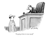 """I'm going to have to recuse myself."" - New Yorker Cartoon Premium Giclee Print by Mike Twohy"