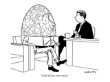 &quot;I did all my own stunts.&quot; - New Yorker Cartoon Premium Giclee Print by Alex Gregory