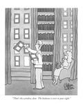 """That's the window, dear.  The bookcase is over to your right."" - New Yorker Cartoon Premium Giclee Print by Gahan Wilson"