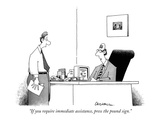 """If you require immediate assistance, press the pound sign."" - New Yorker Cartoon Premium Giclee Print by John Caldwell"