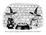 """By the way, does anything other than 'trouble' rhyme with 'bubble'"" - New Yorker Cartoon Premium Giclee Print by Victoria Roberts"
