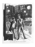 """Say, boss, could y' spare twen'y cents fer a malted"" - New Yorker Cartoon Premium Giclee Print by Peter Arno"