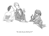 """So what do you think of it"" - New Yorker Cartoon Premium Giclee Print by Gahan Wilson"